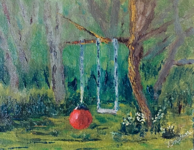 Tree swing painting