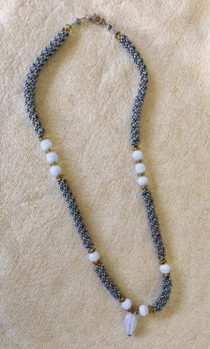 Blue Lace Agate Netting Necklace