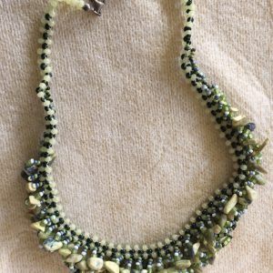 Yellow Turquoise Cascade Necklace