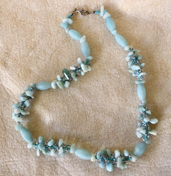 Amazonite Spiral Necklace