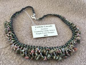 Unakite Cascade Necklace