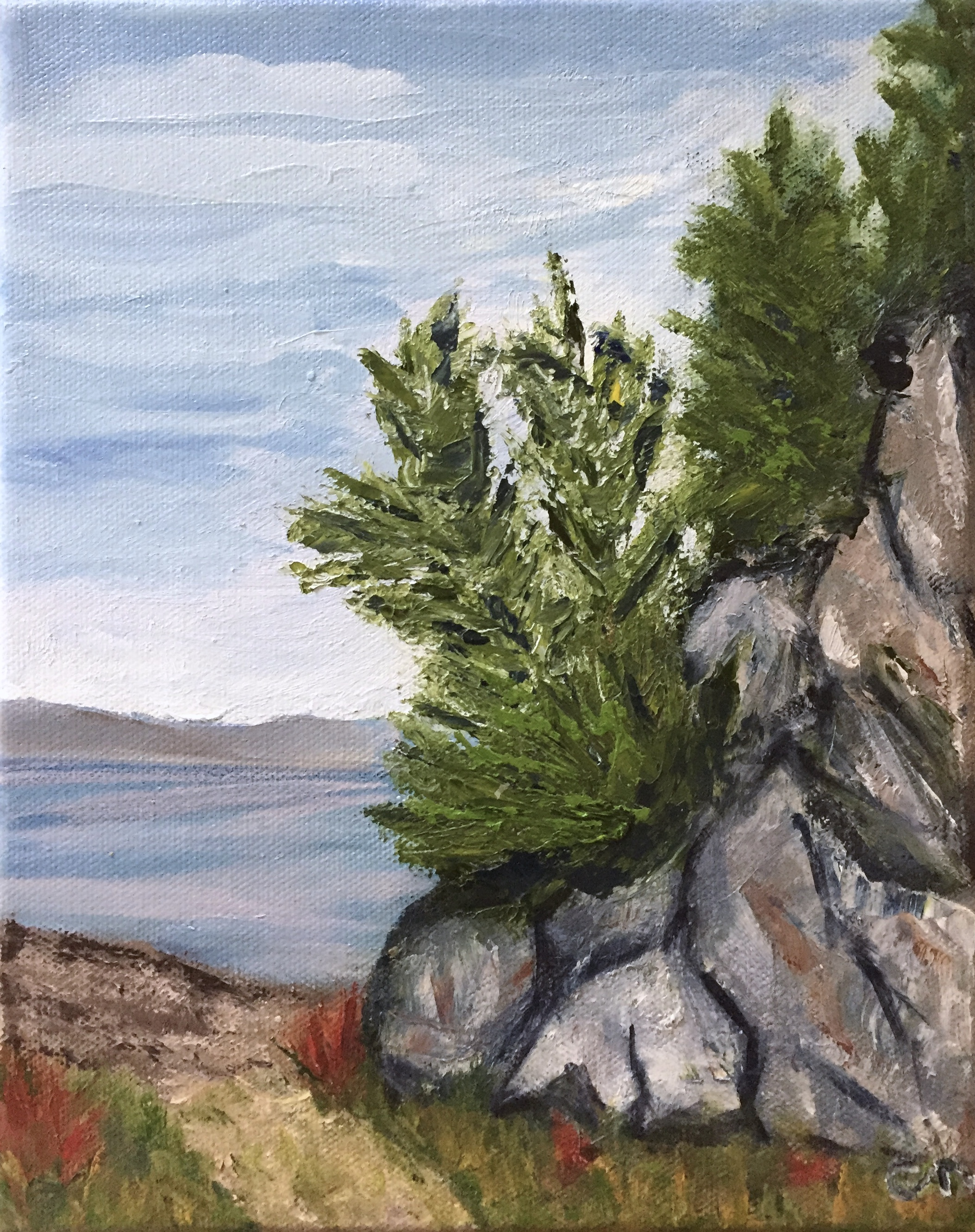 Painting on Halibut cove