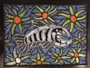 Alaskan Day of the Dead Glass Mosaic