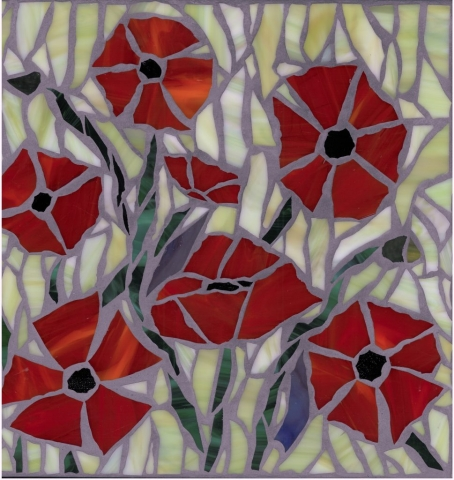 Red Poppies mosaic