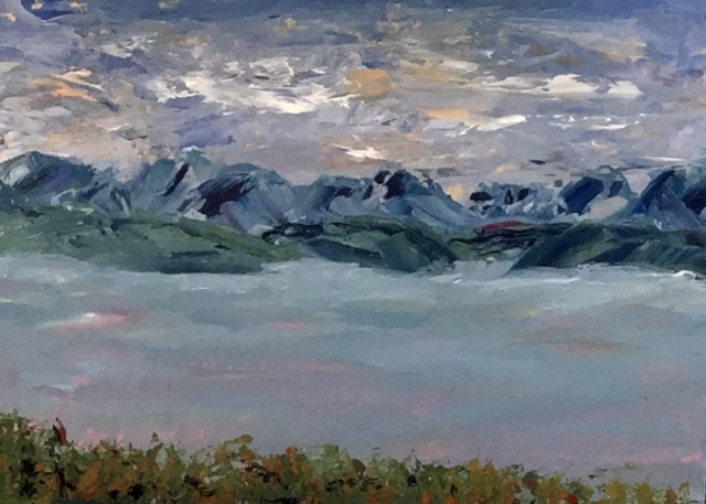 Complement painting of Kachemak Bay