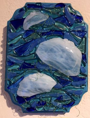 Moon Jellies Glass Mosaic