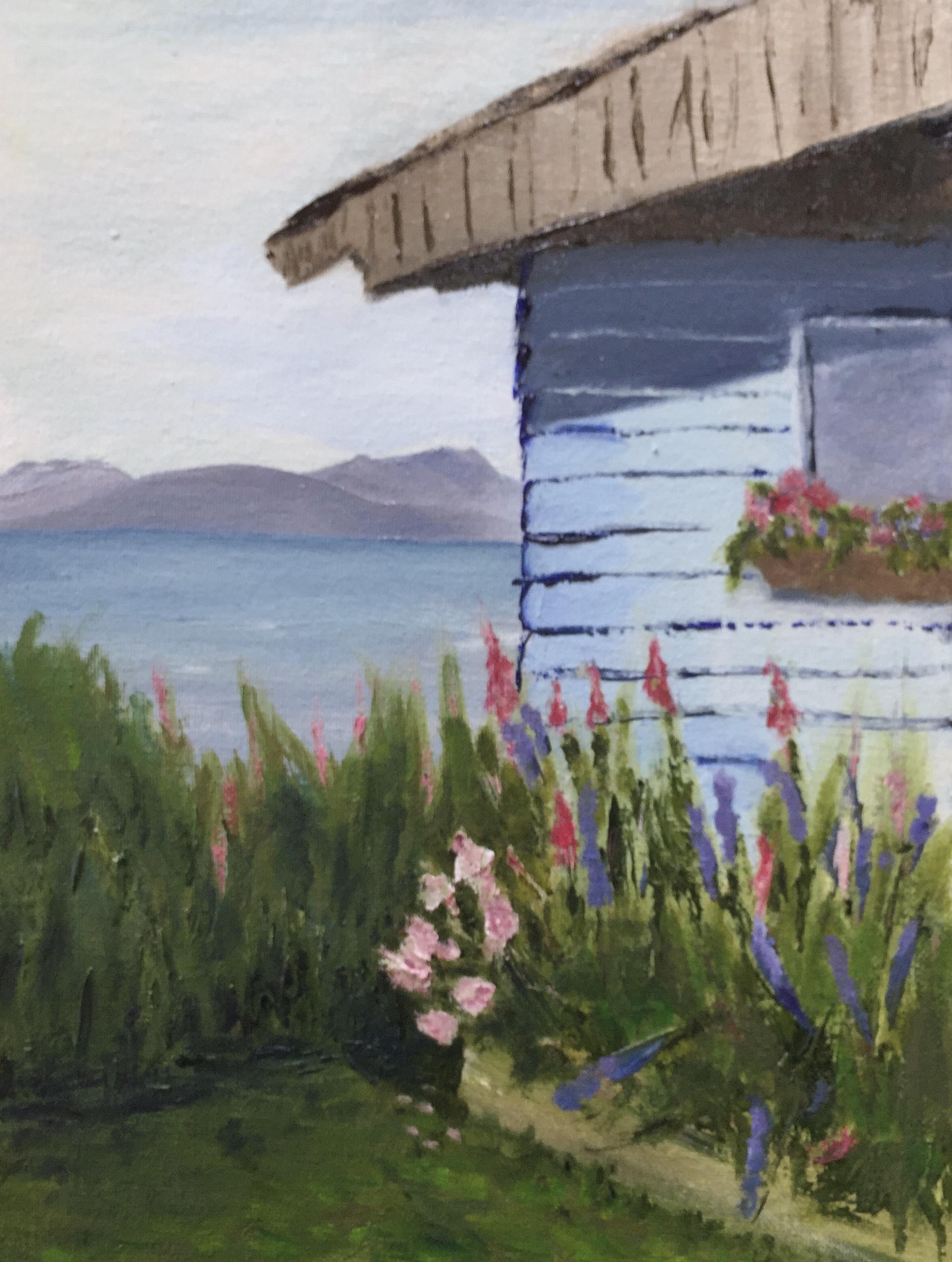 Claudia's Cabin painting