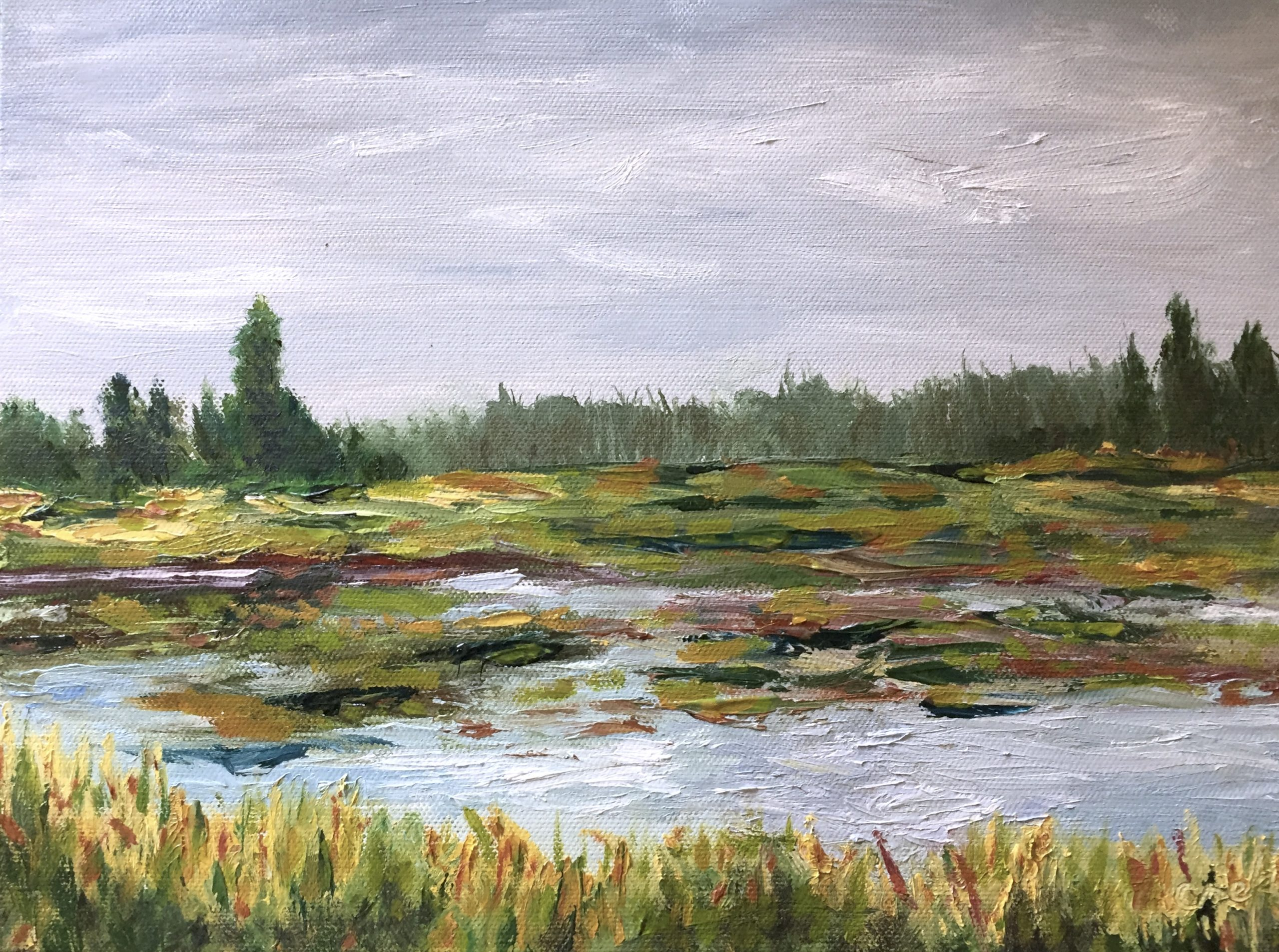 Plein air of Slough painting