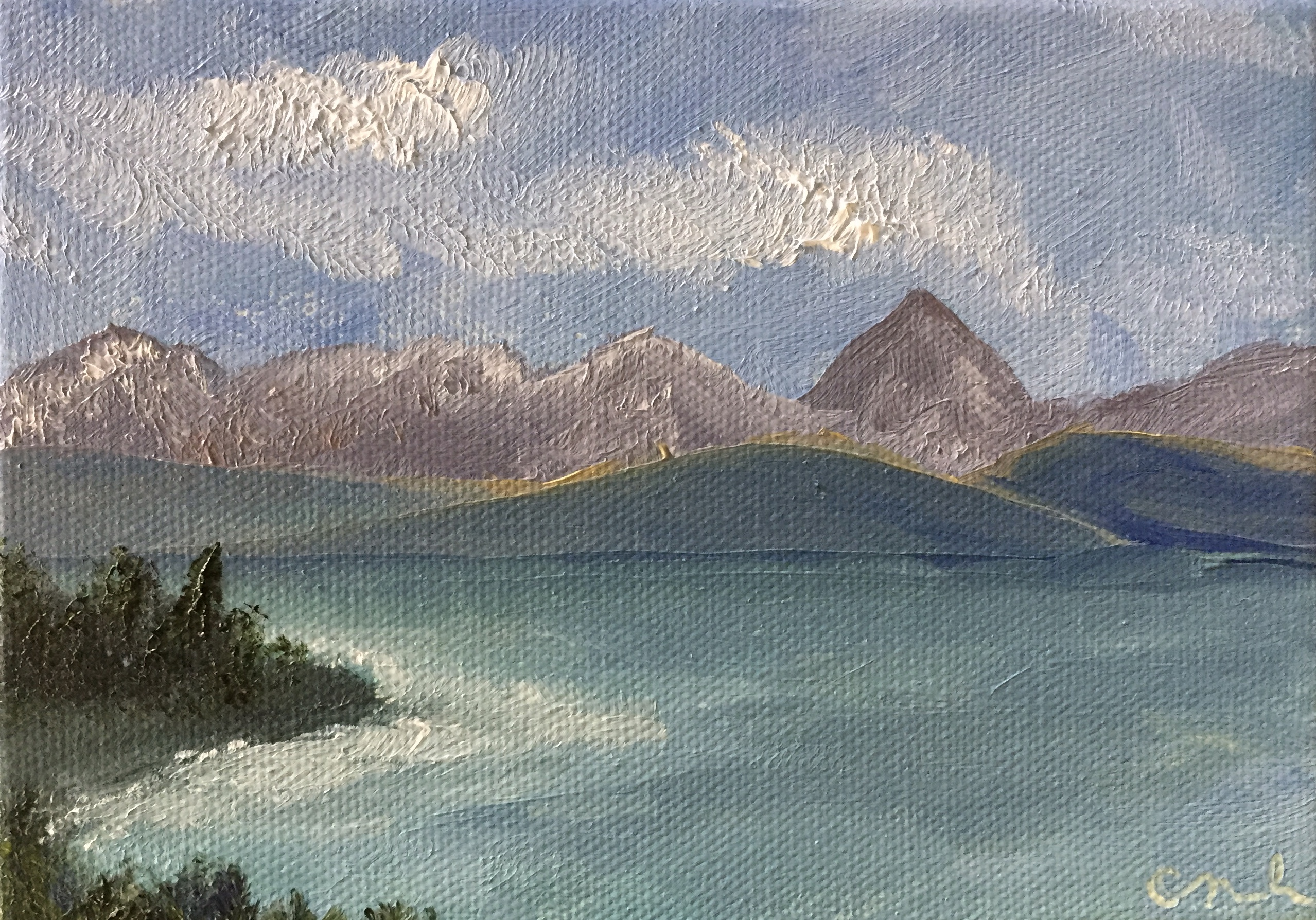 Kachemak Bay Oil painting