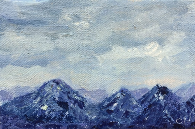 Kachemak Mountains painting