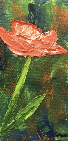 Small Red Poppies painting