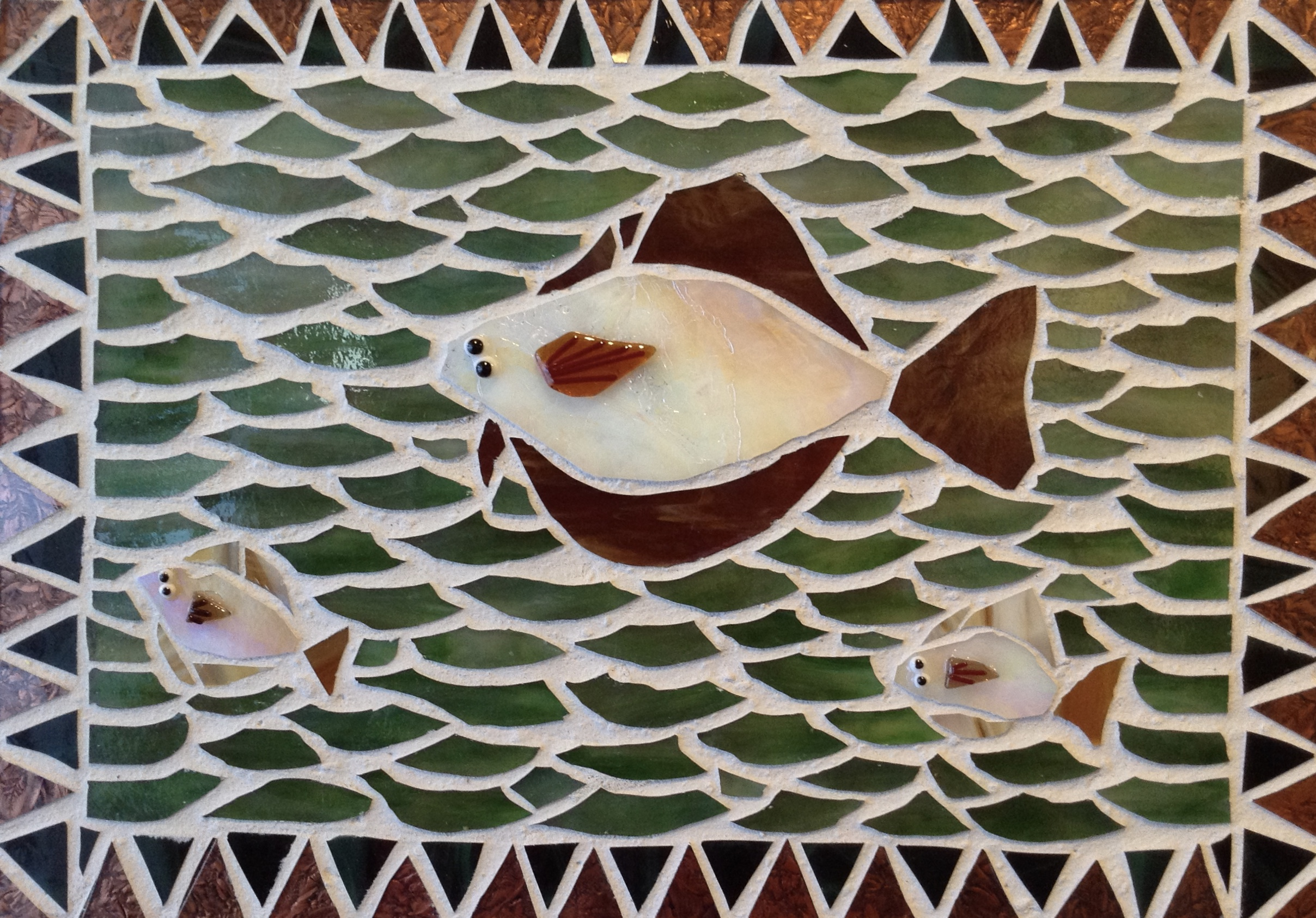 Halibut family mosaic