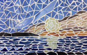 Winter Sunrise Glass Mosaic