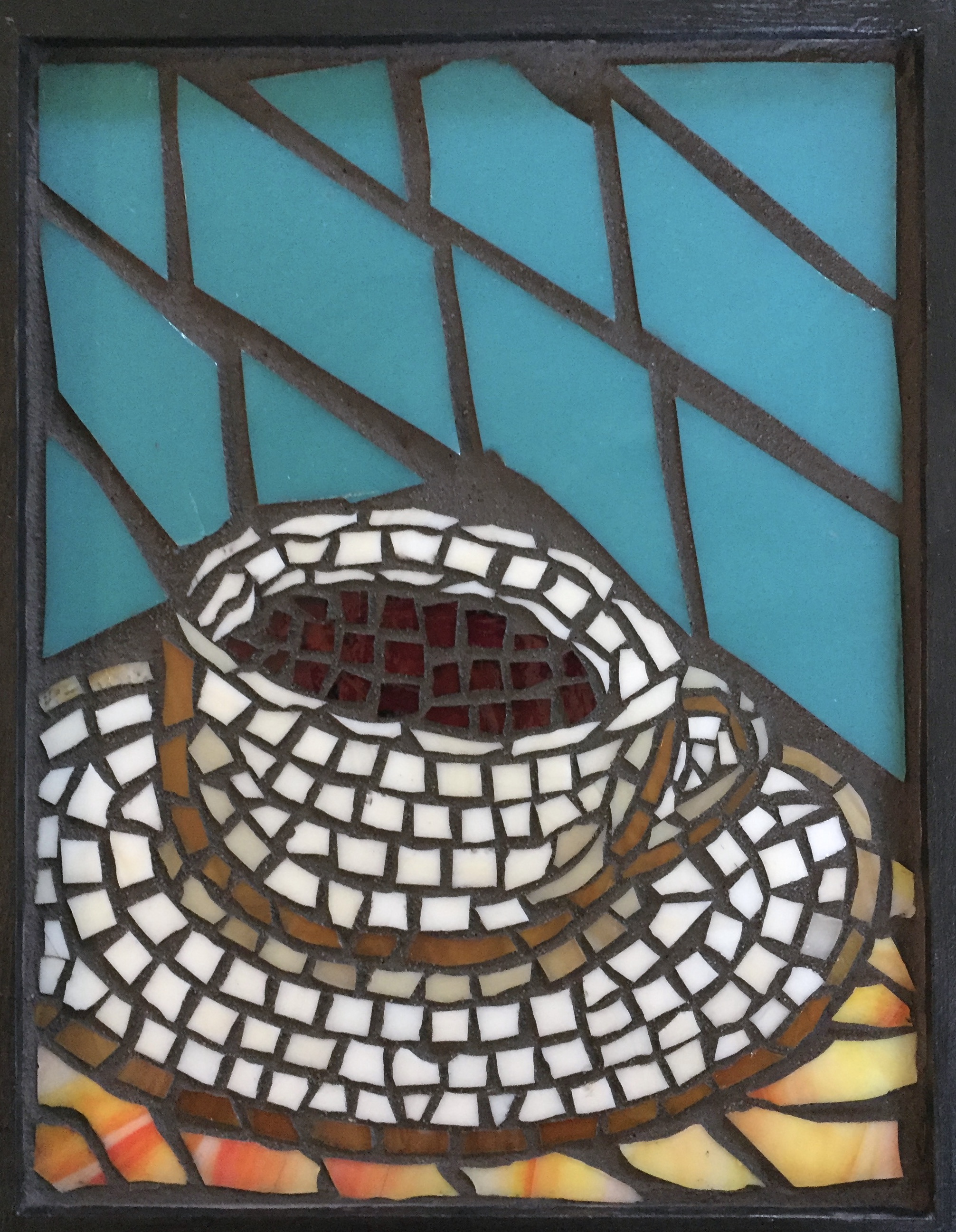 Full cup of coffee mosaic