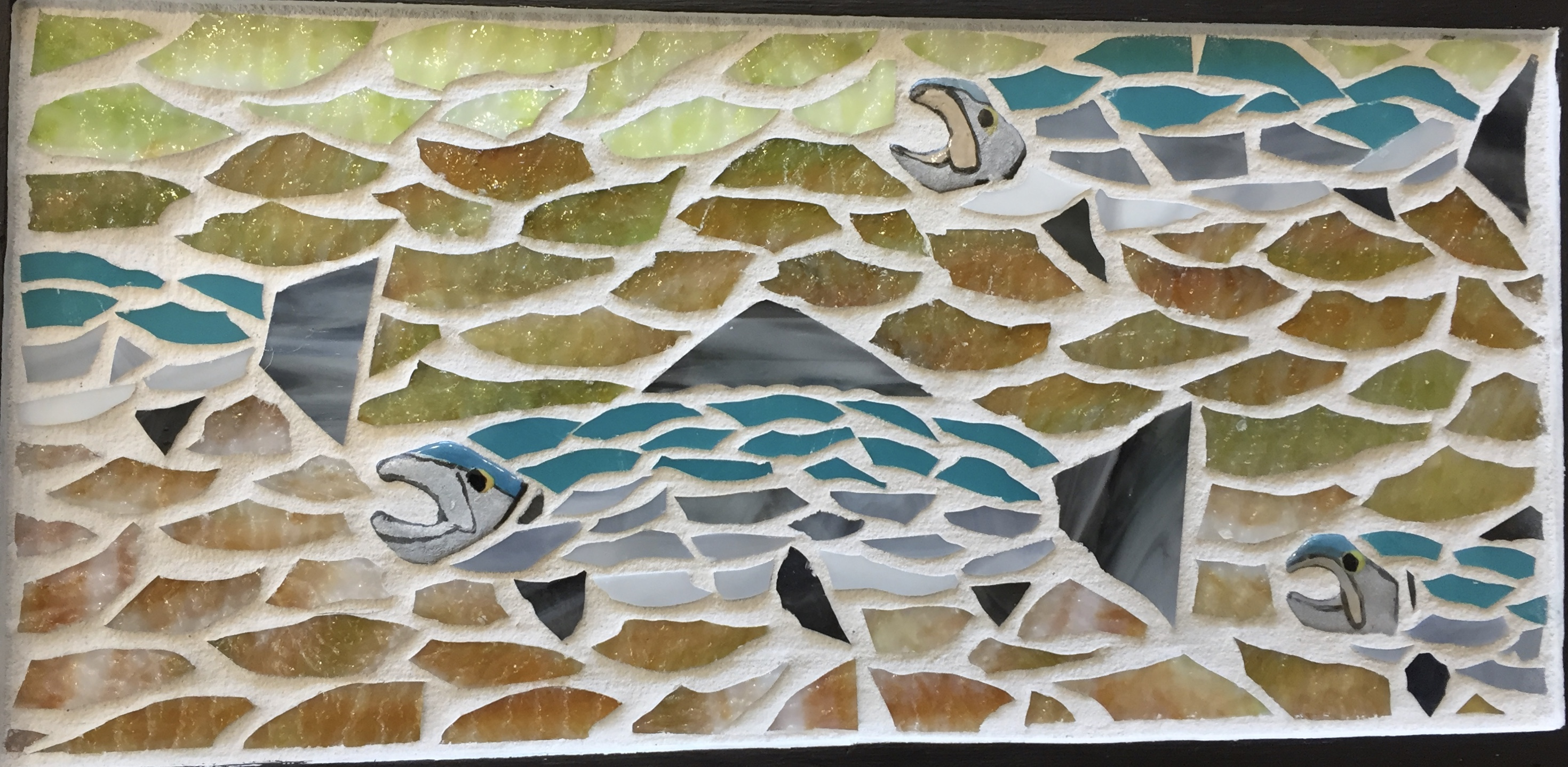 Silver salmon run mosaic