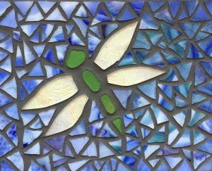 Dragon Fly Glass Mosaic