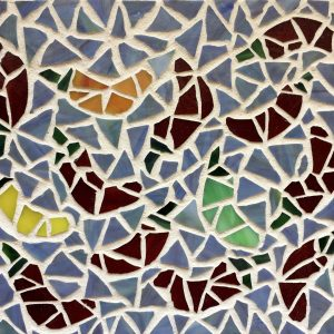 Dancing Peppers Glass Mosaic
