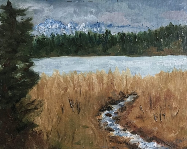 Spring at Beluga Lake painting