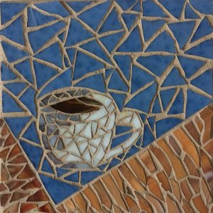 A Good Cup of Joe Glass Mosaic