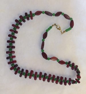 Holiday Red Horn Necklace