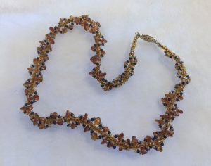 Amber Spiral Necklace