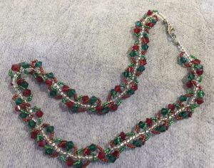 Holiday Spiral Necklace