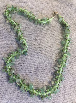 Green Aventurine Spiral Necklace