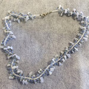 Blue Lace Agate Spiral Necklace