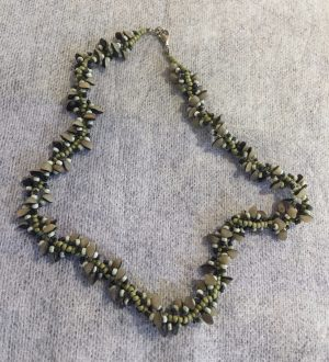 Buri-Nut Spiral Necklace