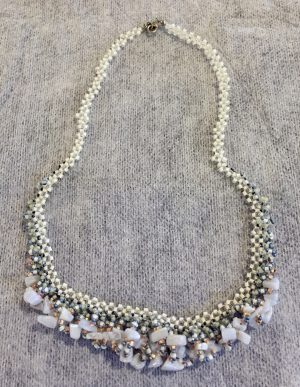 Blue Lace Agate Cascade Necklace