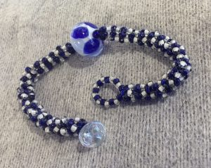 Lamp Work Bead Weave Bracelet