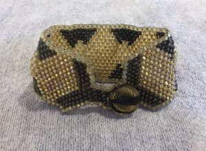 Gold Diamond Weave Bracelet