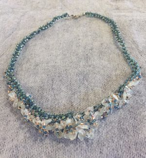 Aquamarine Cascade Necklace