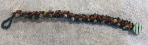 Seraphinite and Carnelian Weave Bracelet