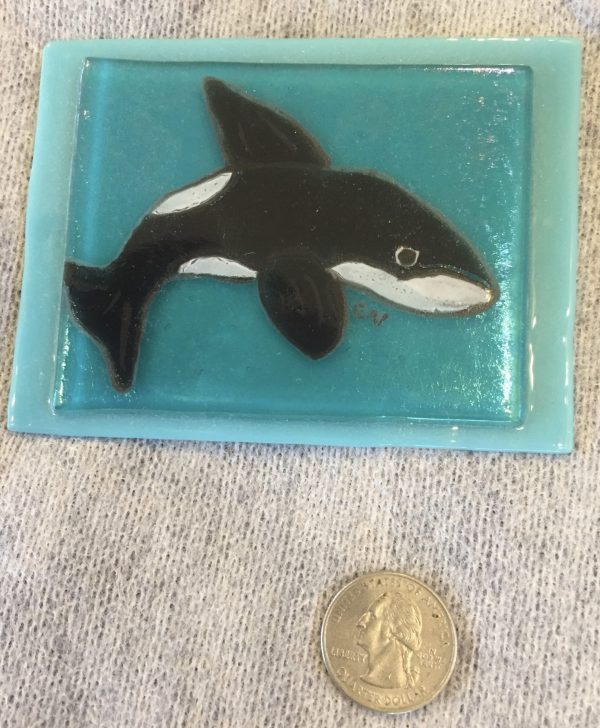 Orca painting on Glass
