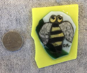 Bumble Bee painting on Glass