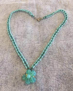 Vintage Blue-Green beaded Necklace