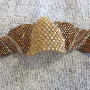 Gold Bronze Peyote Weave Bracelet