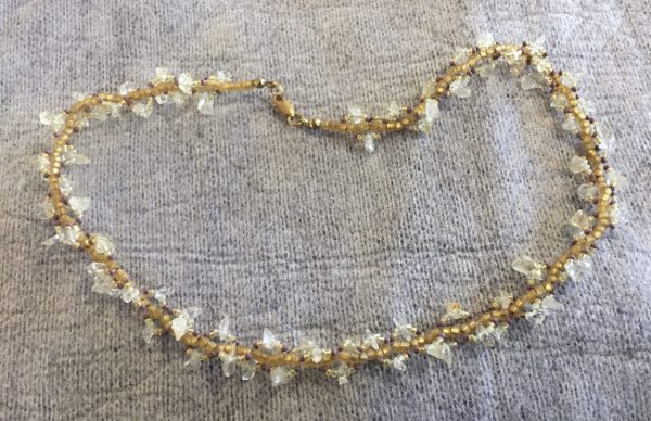 Citrine Spiral Necklace