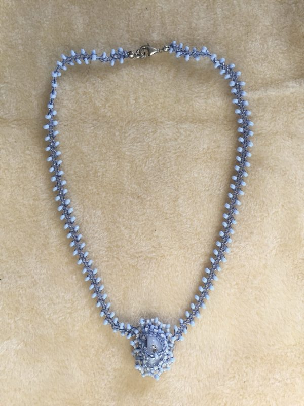 Blue Lace Agate Necklace