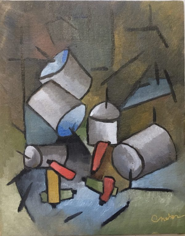 My studio cubism oil painting