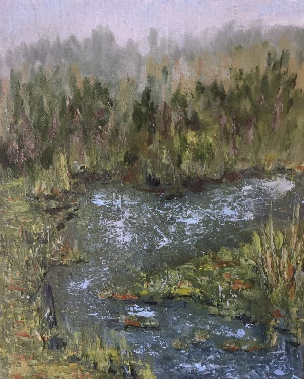 Summer Pond Oil Painting