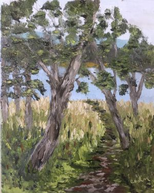 End of Mattox oil painting
