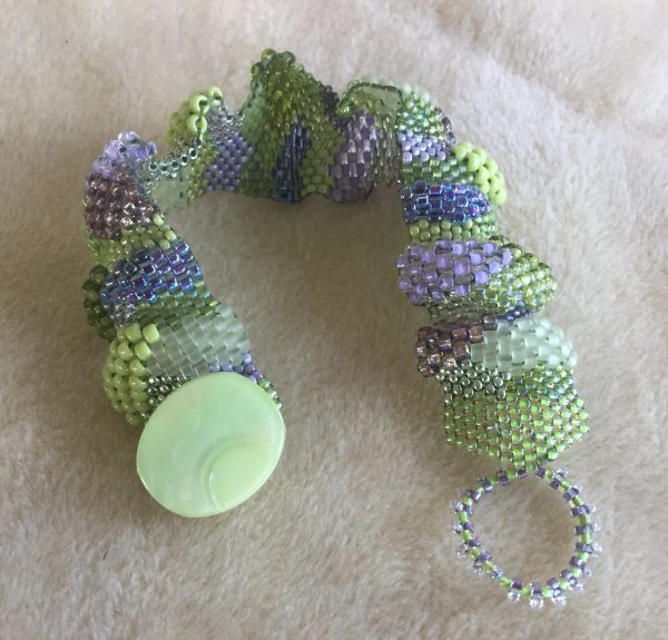 Spring Green Mix Mosaic Bracelet side