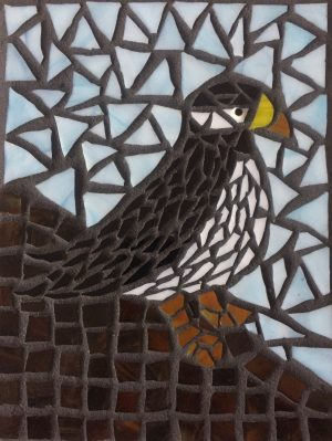 Puffin on Clift Glass Mosaic